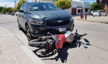 Accidente en la esquina de Uriburu y Rivadavia