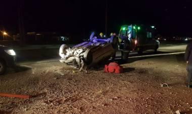Un militar chocó su auto contra un poste de luz en la ruta 3; estaba alcoholizado