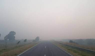Se pide circular con precaución por ruta 249 tras la baja visibilidad a causa del humo