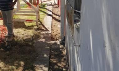 Comenzó la obra de reparación de estructuras en la EP N°7 de Villa Arias