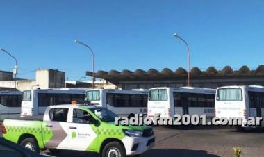Realizaron controles a la empresa El Villarino en la terminal de ómnibus