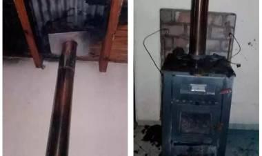 Pehuen Co: Principio de incendio afectó el cielo raso de una vivienda