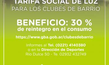 El Municipio atiende consultas sobre descuentos en energía para clubes