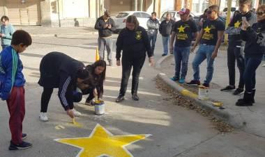 Estrellas Amarillas: Jornada de concientización en Pellegrini y Estrada