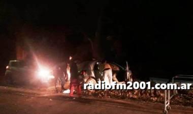 Baterías: Un militar resultó herido al chocar contra un árbol