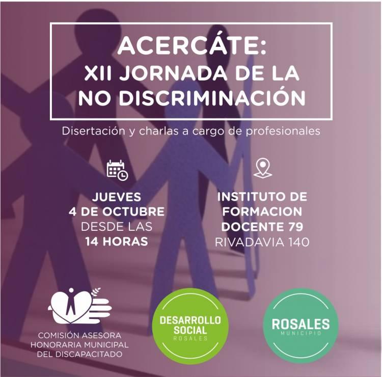 El 4 de octubre se hará la XII Jornada de la NO discriminación
