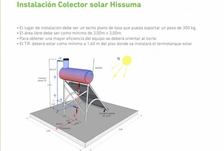 Por medio del Municipio se instalará un termotanque solar en la EP N°15