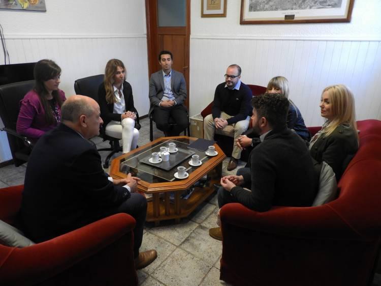 El Intendente y subsecretario de Educación, recibieron a alumnos de certámenes provinciales