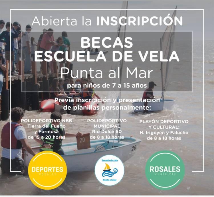 """El Municipio entregará becas para la Escuela de Vela """"Punta al Mar"""""""