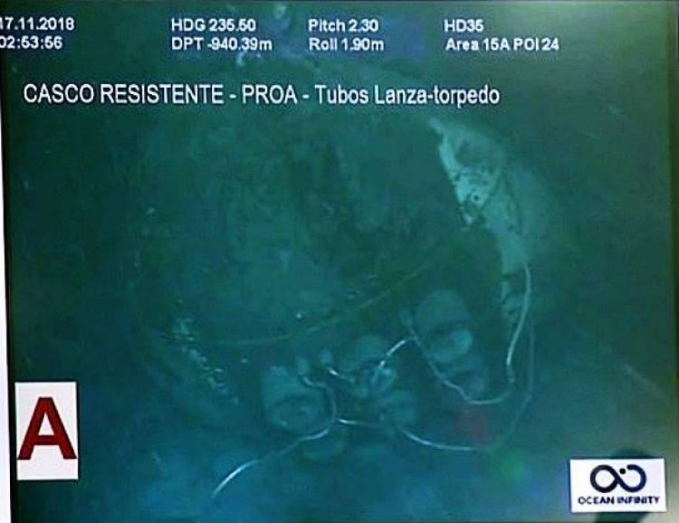 Por pedido de los familiares, no se difundirán más imágenes sobre el estado del submarino