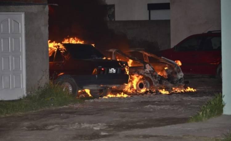 Incendio y explosión  en Albatros XXVII