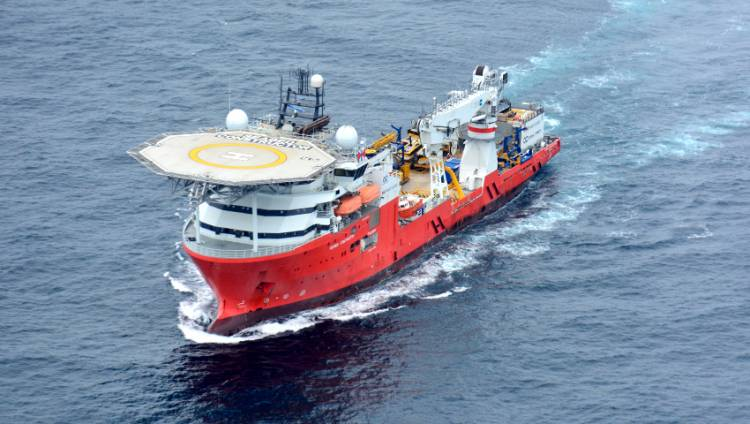 """El """"Seabed Constructor"""" arriba a Ciudad del Cabo"""