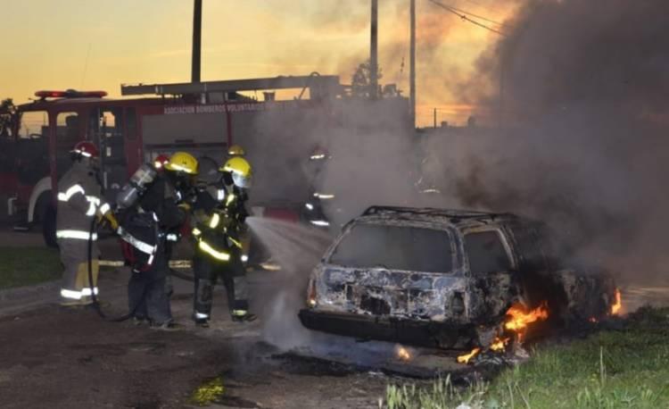 Incendio intencional de otro vehículo