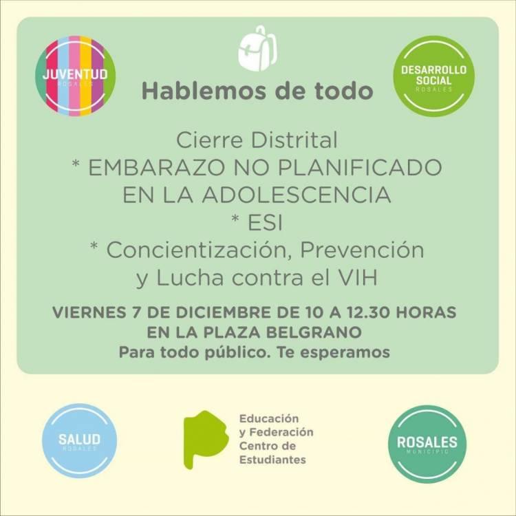 """Concientización sobre """"Embarazo no planificado"""" y VIH en Plaza Belgrano"""