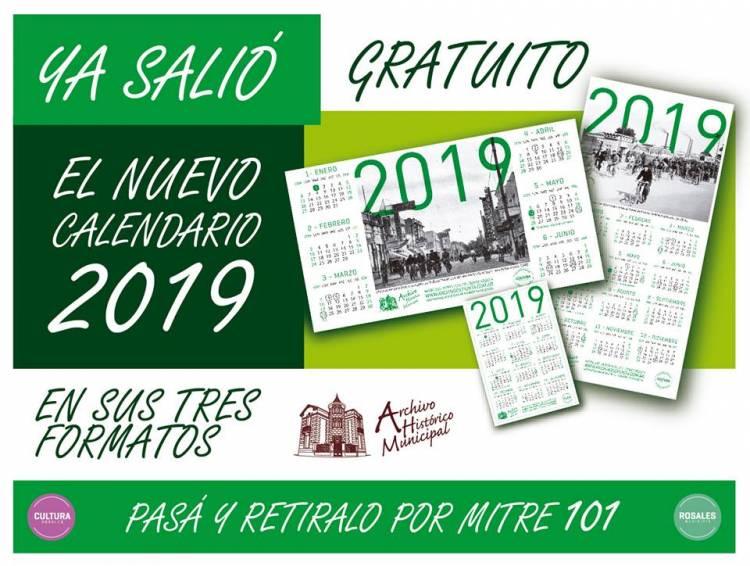 Ya salió el calendario 2019 del Archivo Histórico Municipal