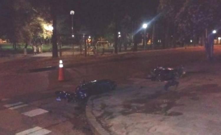 Choque de motos, dejaron el saldo de dos heridos graves