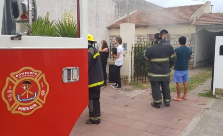 Principio de incendio en una casa
