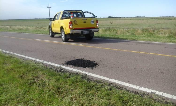 Pehuen Co: A pedido del Municipio, Vialidad realizó mantenimiento en Ruta 113/02