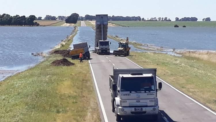 Vialidad Nacional continúa trabajando en la Ruta 3