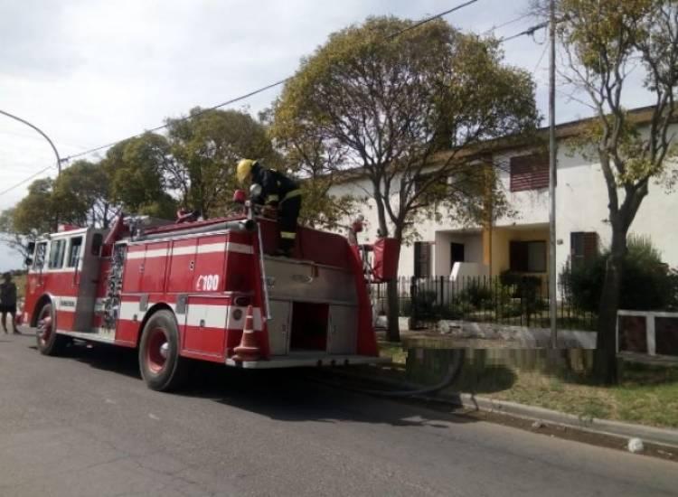 Incendio en una casa del Albatros XIV