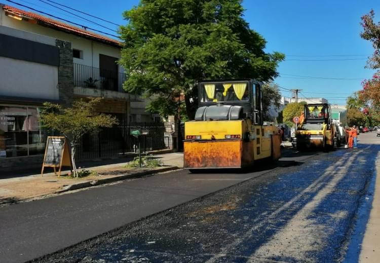 Calle Paso al 300 ya tiene su nuevo pavimento