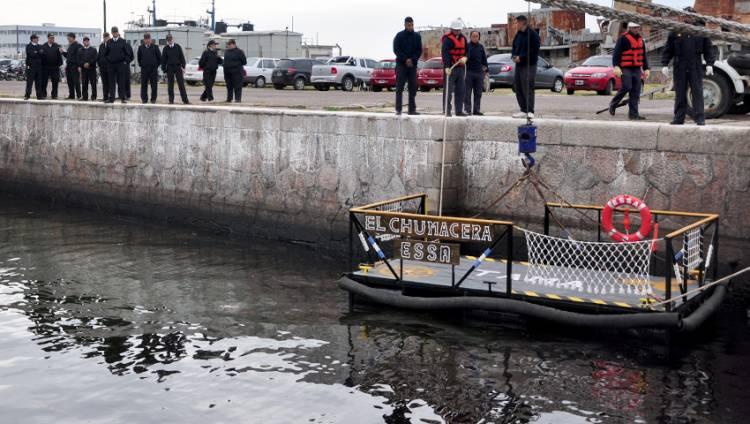 Aspirantes de 2° año de la ESSA construyeron una plataforma flotante