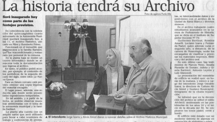 Los 20 años del Archivo Histórico Municipal