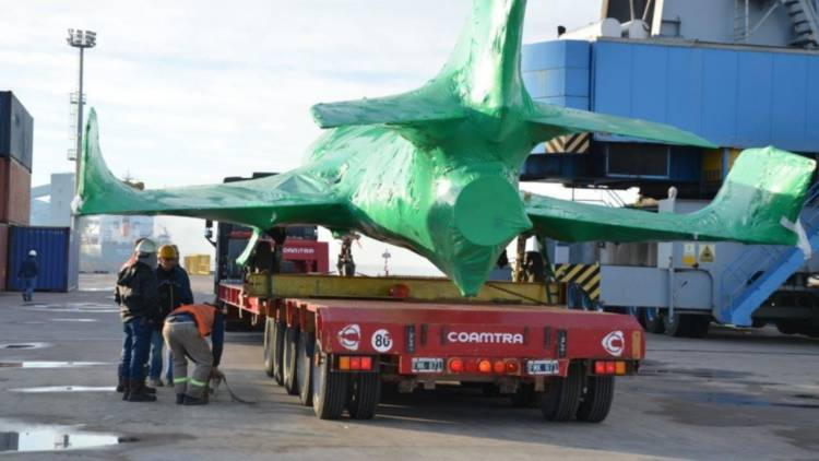 Así será desde mañana el traslado de los aviones Super Etendard a la Base Espora