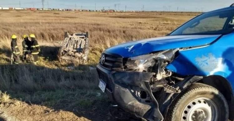 Un accidente de tránsito en la ruta dejo un herido
