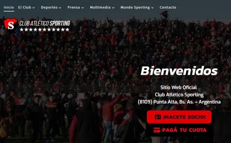 El Club Atlético Sporting presentó su nuevo sitio web oficial
