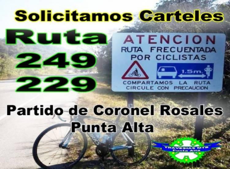 Ciclistas piden cartelería para las rutas 229 y 249