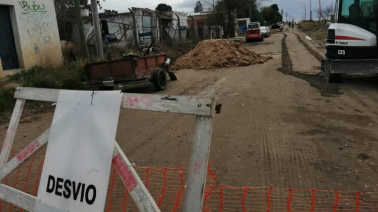 Calle 25 de Mayo está cortada entre Quintana y 12 de Mayo por trabajos