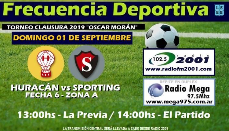 Liga del Sur: Sporting visita a Huracán en White