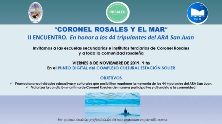 """Se expondrá la presentación de los trabajos """"Coronel Rosales y el mar"""""""