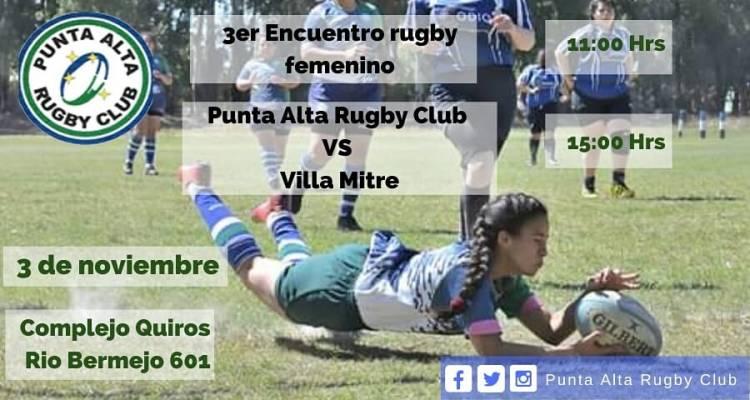 Este domingo habrá un encuentro de Rugby Femenino en el Punta Alta Rugby Club