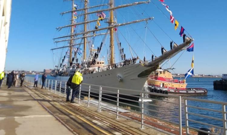 La Fragata ARA Libertad llegó a Boston, Estados Unidos