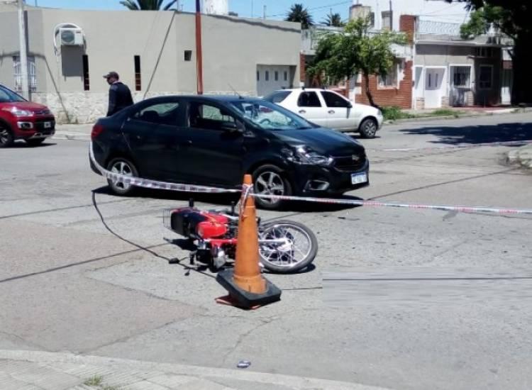 Un accidente de tránsito dejó dos personas heridas