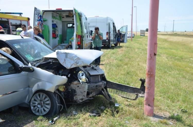 Ruta 3: Fuerte choque en cadena dejó heridos