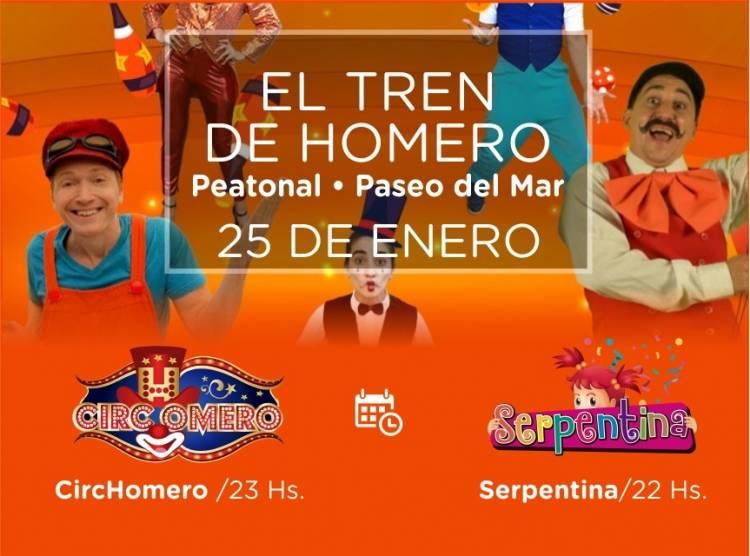 """Pehuen Co: Este sábado se presentan """"Serpentina"""" y  """"El tren de Homero"""""""