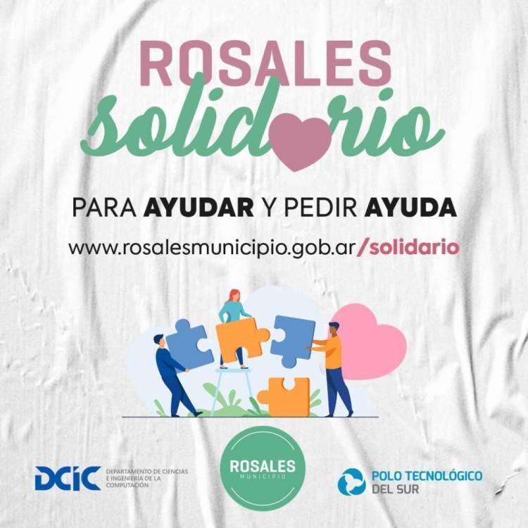 Ya funciona la plataforma Rosales Solidario para efectuar donaciones o recibir ayuda