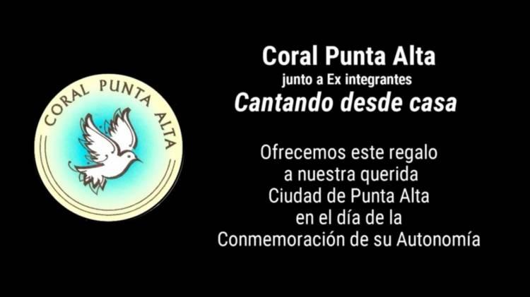 Hoy a la medianoche el Coral Punta Alta estrenará su primer trabajo virtual