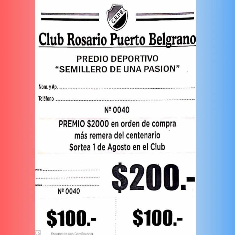 El Club Rosario Puerto Belgrano lanza 3 bonos contribución para colaborar con el fútbol formativo