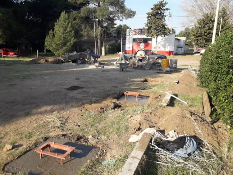 Pehuen Co: Se comenzó con las obras del nuevo Cuartel de Bomberos