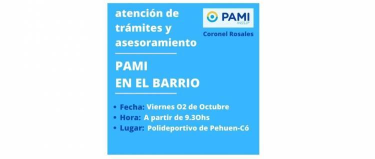 Pehuen Co: PAMI asesorará y atenderá al público en el Playón Municipal