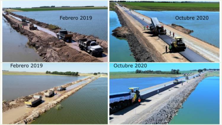 De 2019 a 2020: Estos son los cambios en el tramo de la ruta 3 que estuvo inundado