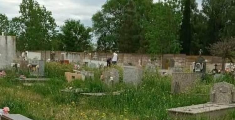 Abandono total del cementerio en medio de una medida de fuerza