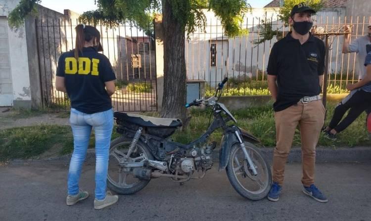 En un operativo se secuestro una moto que tenía una prohibición de circular