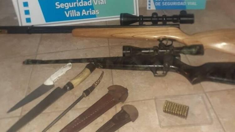 Secuestro de armas y detenidos por caza ilegal