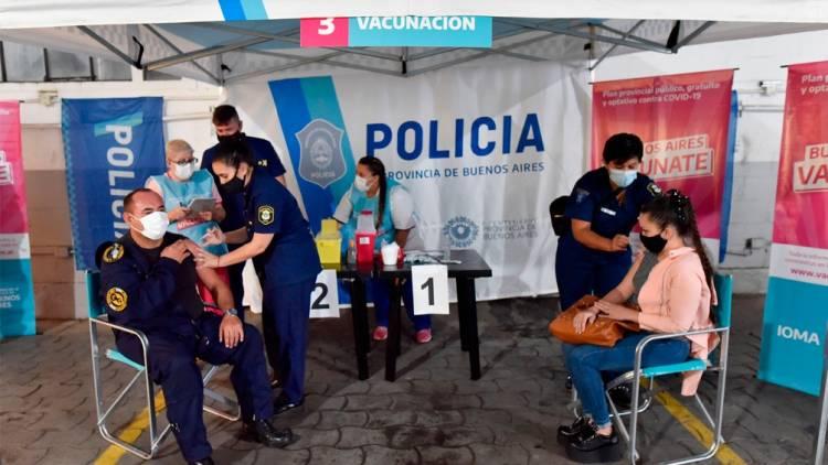 Se comenzó en la Provincia la vacunación para personal de Seguridad