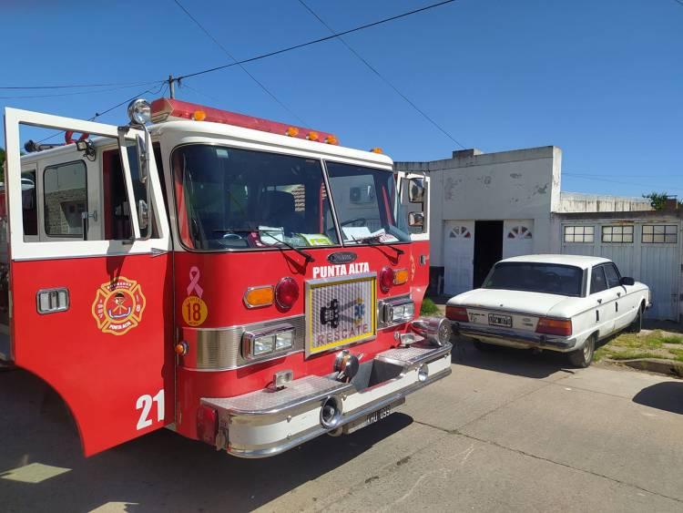 Principio de incendio en una vivienda en Humberto al 2466